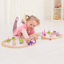 BigJigs Fairy Figure of Eight Train Set with 40 pieces