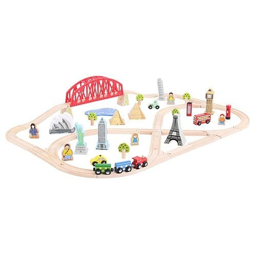 BigJigs Around the World Train Set