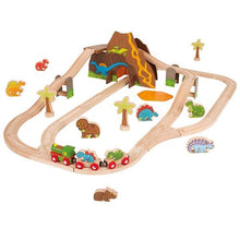 BegJigs Dinosaur wooden Train Set