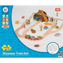 BigJigs Dinosaur wooden Train Set packaging