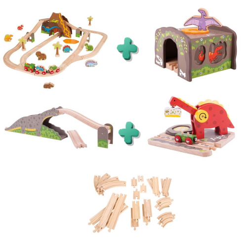 Our Dinosaur Rail playset has everything needed to get you set up to explore the world of dinosaurs