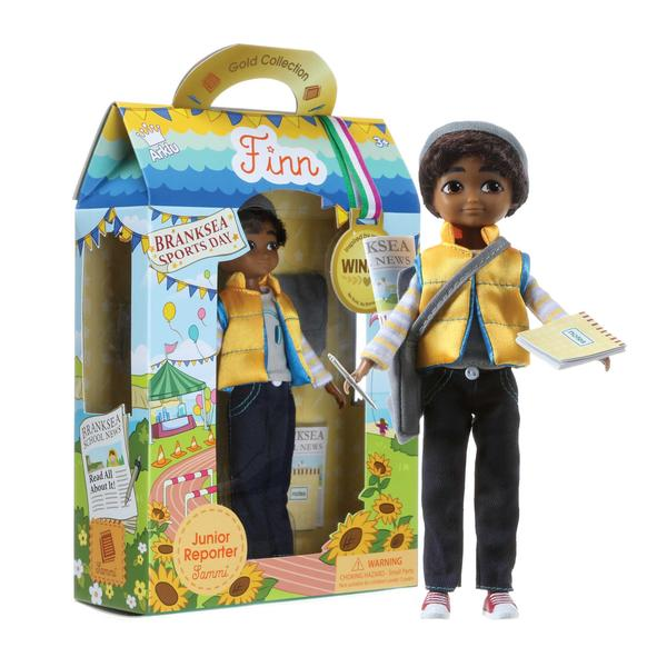 Junior Reporter Sammi Boy Doll and packaging