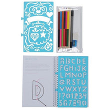 Tiger Tribe's Lovely Book of Lettering stencils and accessories