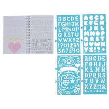 Tiger Tribe's Lovely Book of Lettering stencils