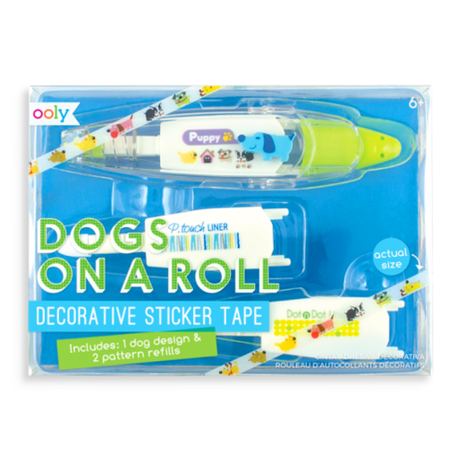 Dogs On A Roll Deco Tapes - 3 Piece Set