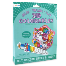 3D Colourables - Unicorn Shield & Sword - Set of 2