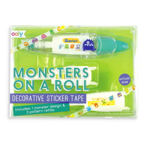 Monsters On A Roll Deco Tapes - 3 Piece Set