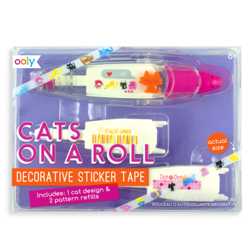 Cats On A Roll Deco Tapes - 3 Piece Set