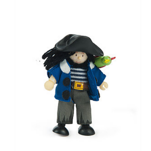 Le Toy Van's Budkins Jolly Pirate with Parrot