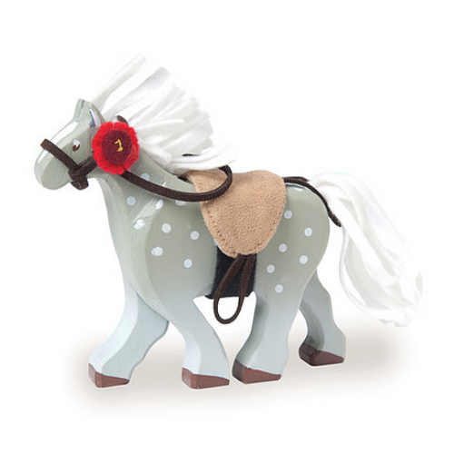 Le Toy Van's Grey Horse with Saddle