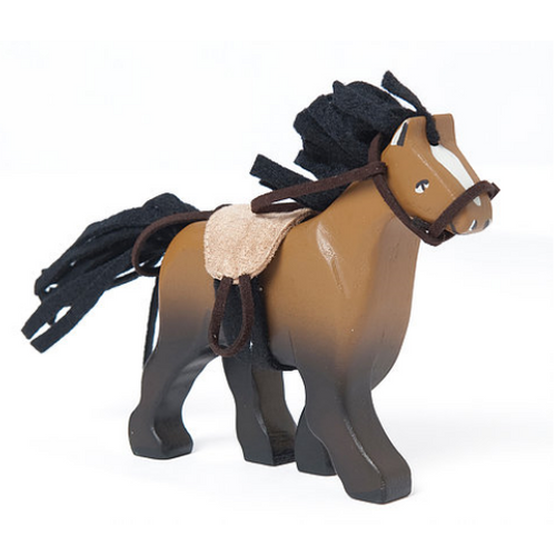 Le Toy Van's Brown Horse with Saddle