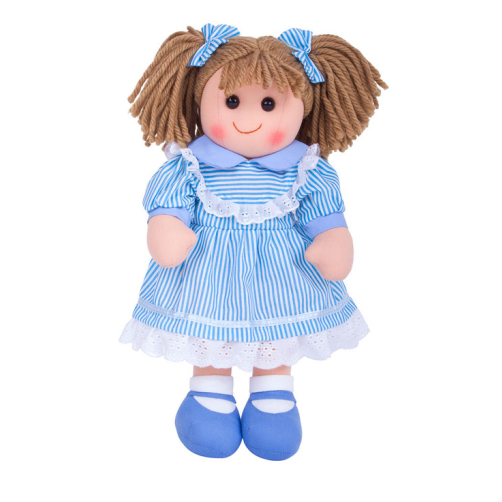 BigJigs Rag Doll Amelia is sure to become a trusted friend who can keep secrets, share dreams and provide plenty of hugs!