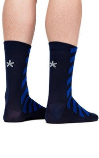 Huez navy starman socks