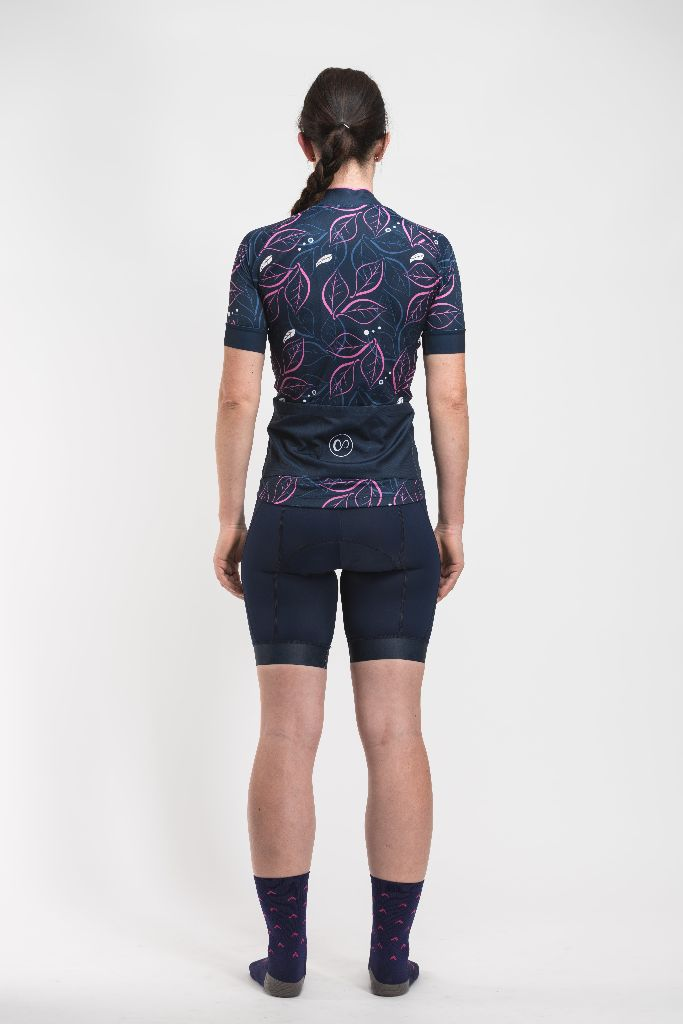 veloone womens navy cycling jersey