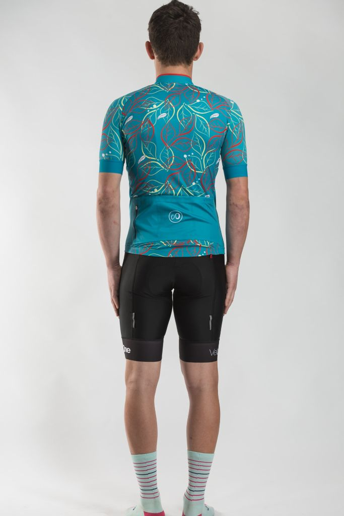 VeloOne mens Leaf Attack Jersey in Jungle