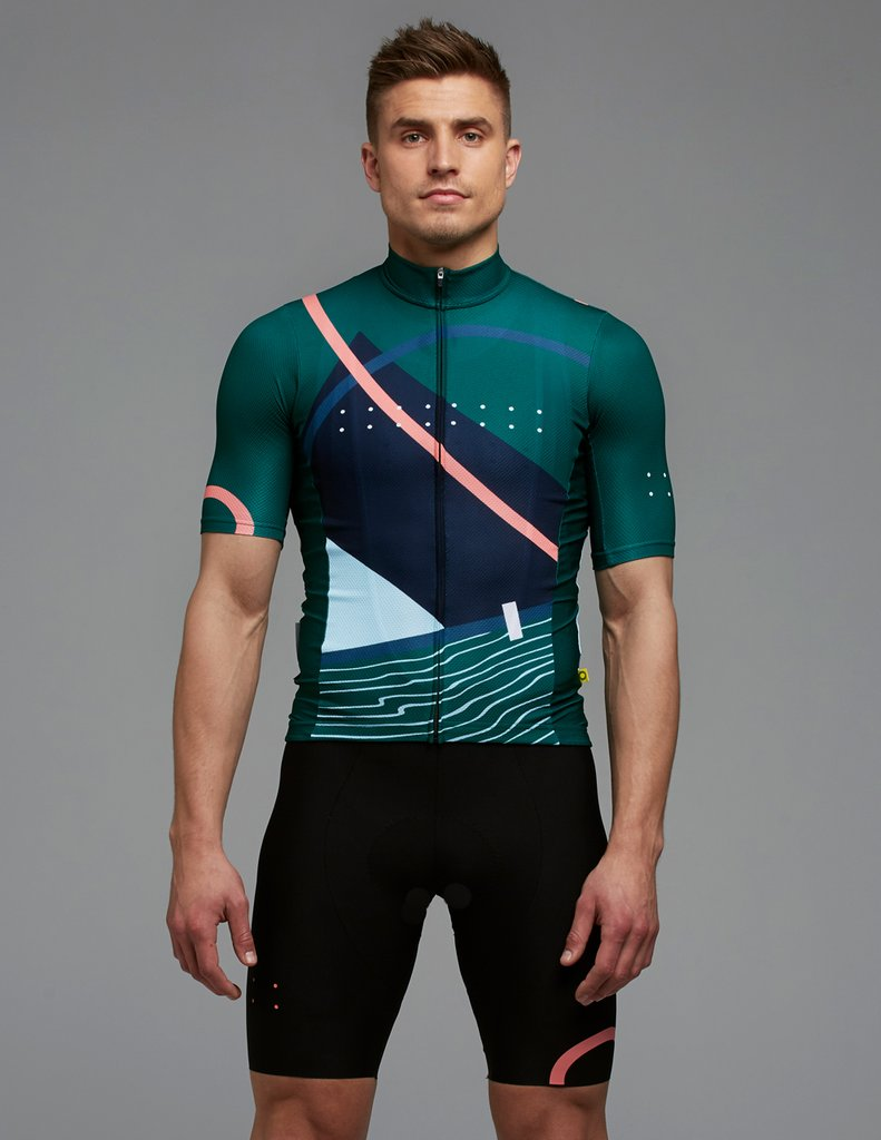 Linear Jersey | Emerald Green