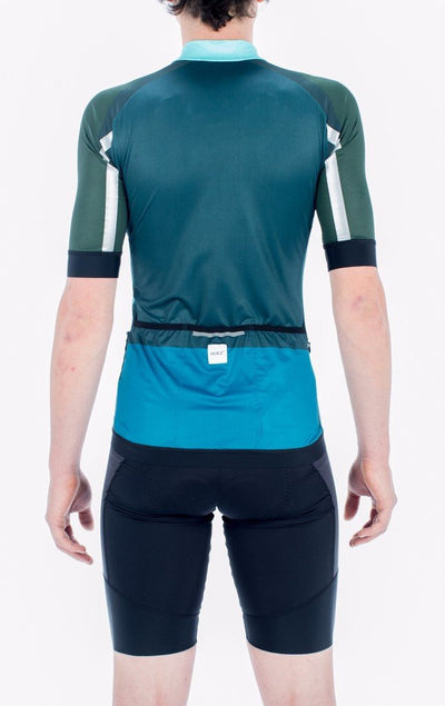 HUEZ Cycling Jersey - Colour Bleed Jersey | Pea