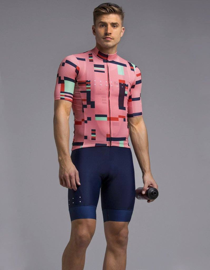 Pedla Mens Cycling Jerseys - Locals United Jersey | Peach