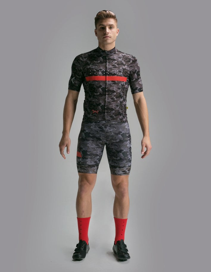 Pedla Mens Cycling Jerseys - Ride CAMO Jersey | Black