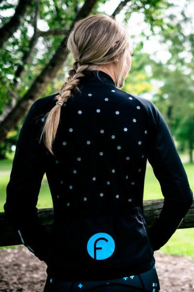 Fondo Cycling Jerseys - Softshell Dot Cycling Jacket