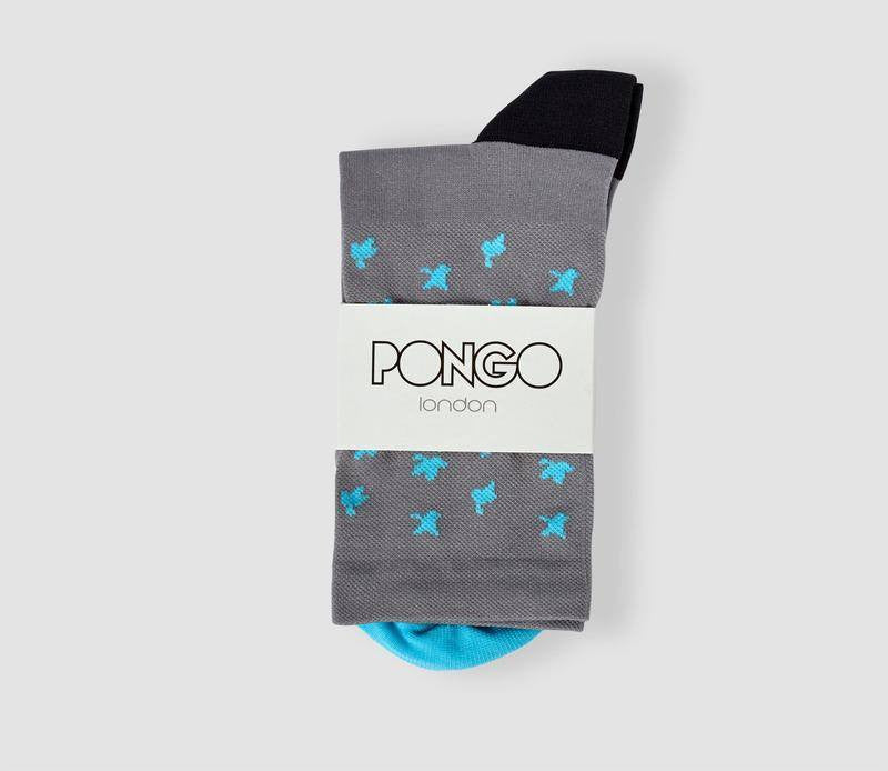 Pongo Cycling Socks - Collection Two | Leaf Turquoise