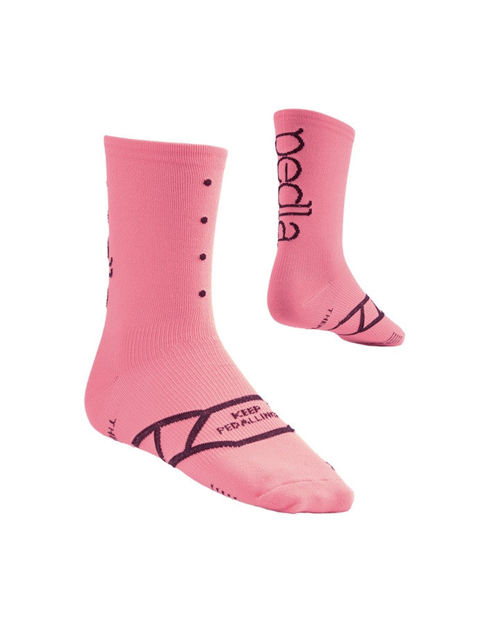Pedal Cycling Socks - Spinners | Musk Pink