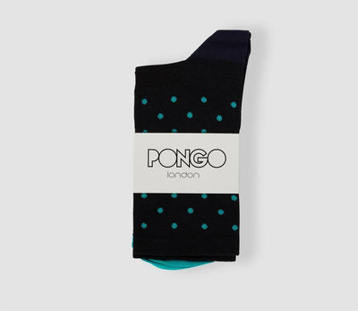 Pongo Cycling Socks - Staples | Black & Celeste