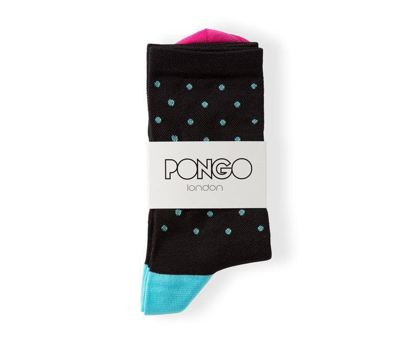 Pongo Cycling Socks - Staples | Black & Turquoise