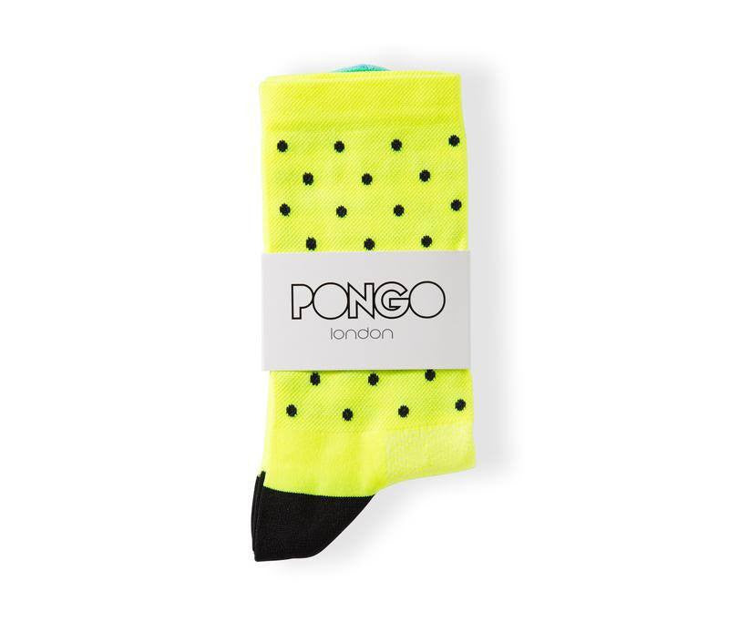 Pongo Cycling Socks - Staples | Fluro Yellow