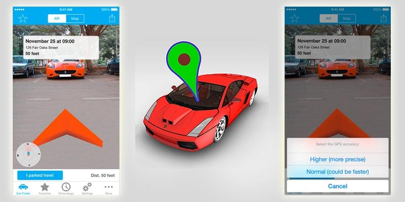 augmented reality apps find your car with ar augmented reality car finder iphone