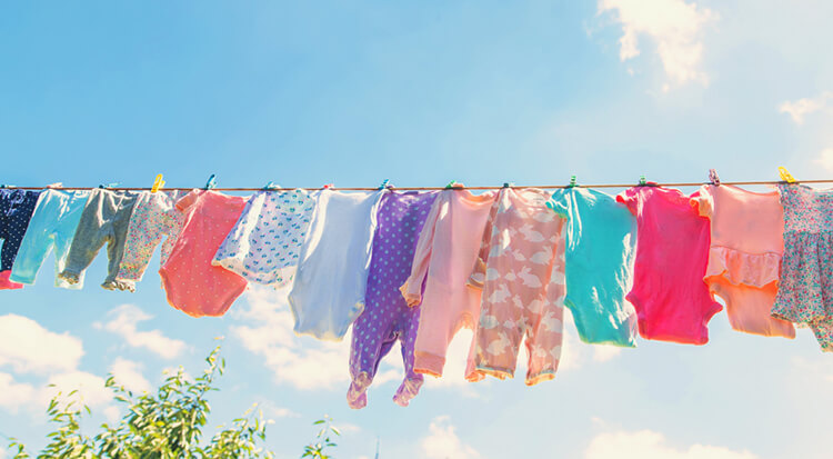 dry baby clothes fast