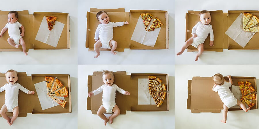 baby photo collage ideas