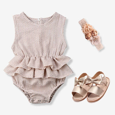 infant girl rompers