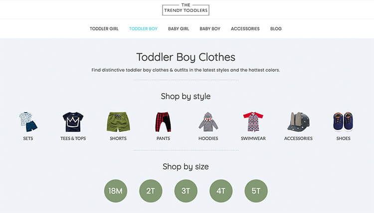 toddler boy clothing store