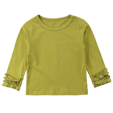 Long Sleeve Solid Top - The Trendy Toddlers