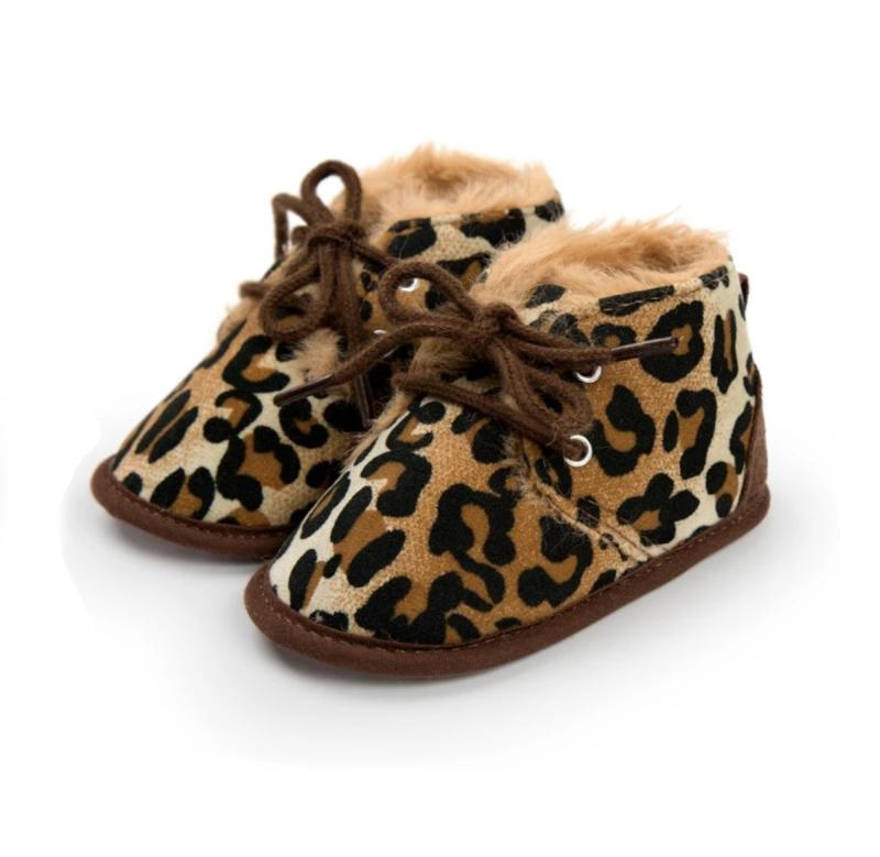 Leopard Faux Fur Boots - The Trendy Toddlers