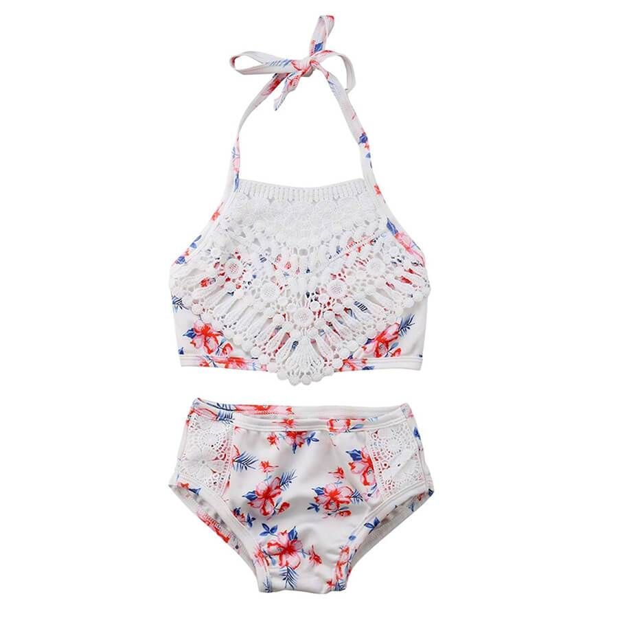 Floral Lace Swimsuit - The Trendy Toddlers