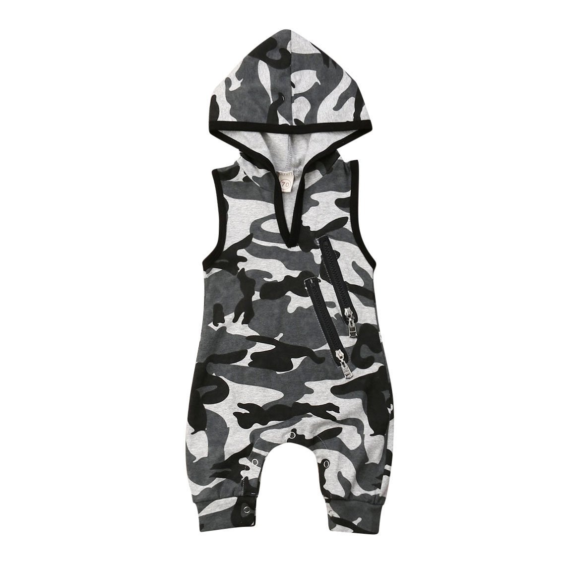 Camo Hooded Jumpsuit