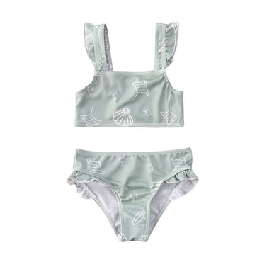 Shell Ruffled Swimsuit - The Trendy Toddlers