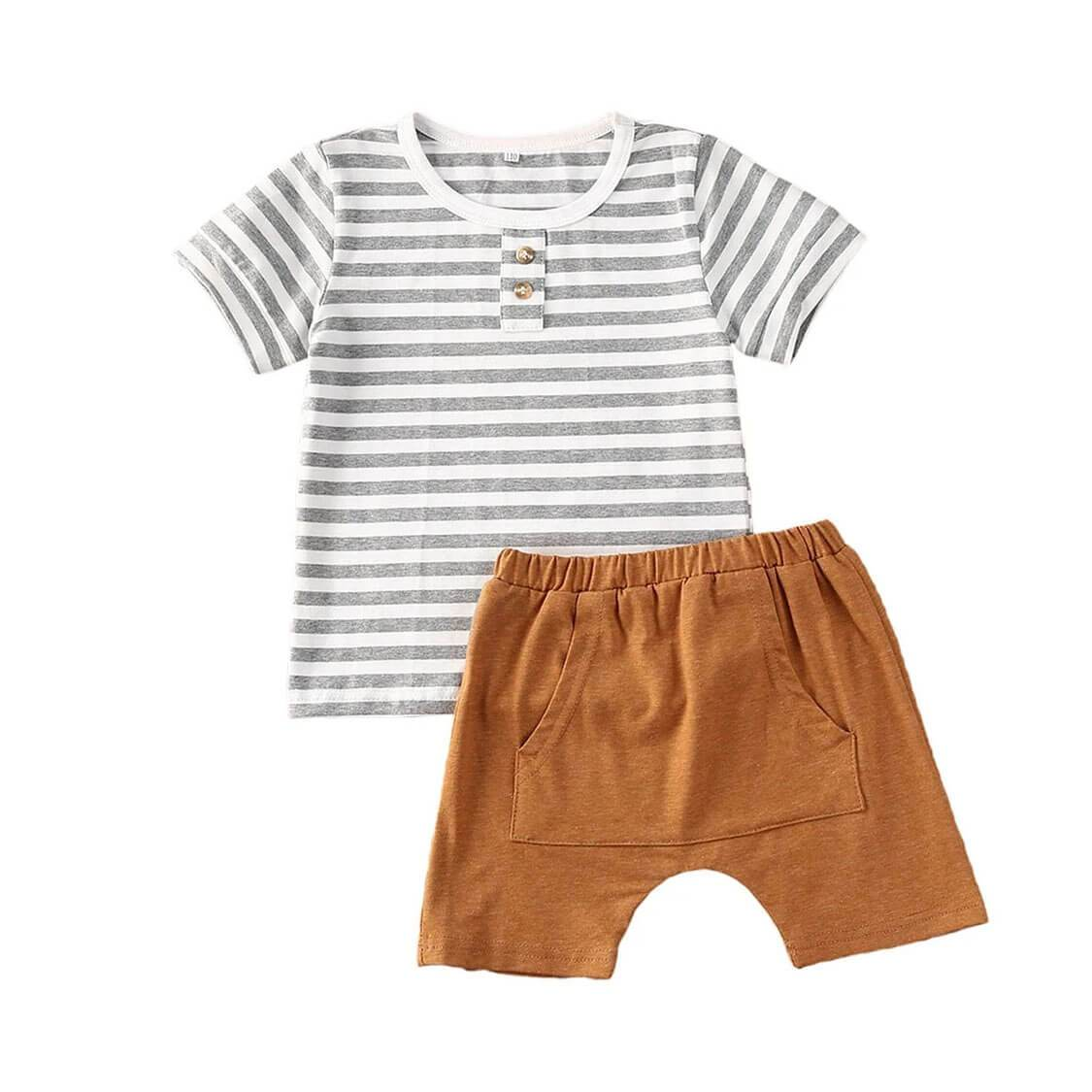 Striped Brown Set