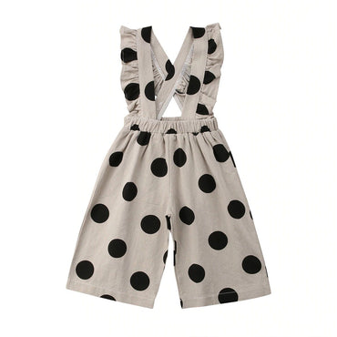 Polka Dot Ruffled Jumpsuit - The Trendy Toddlers