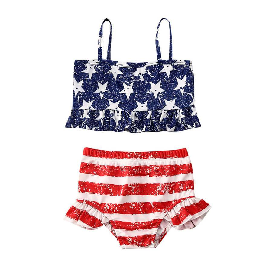 American Ruffled Swimsuit - The Trendy Toddlers