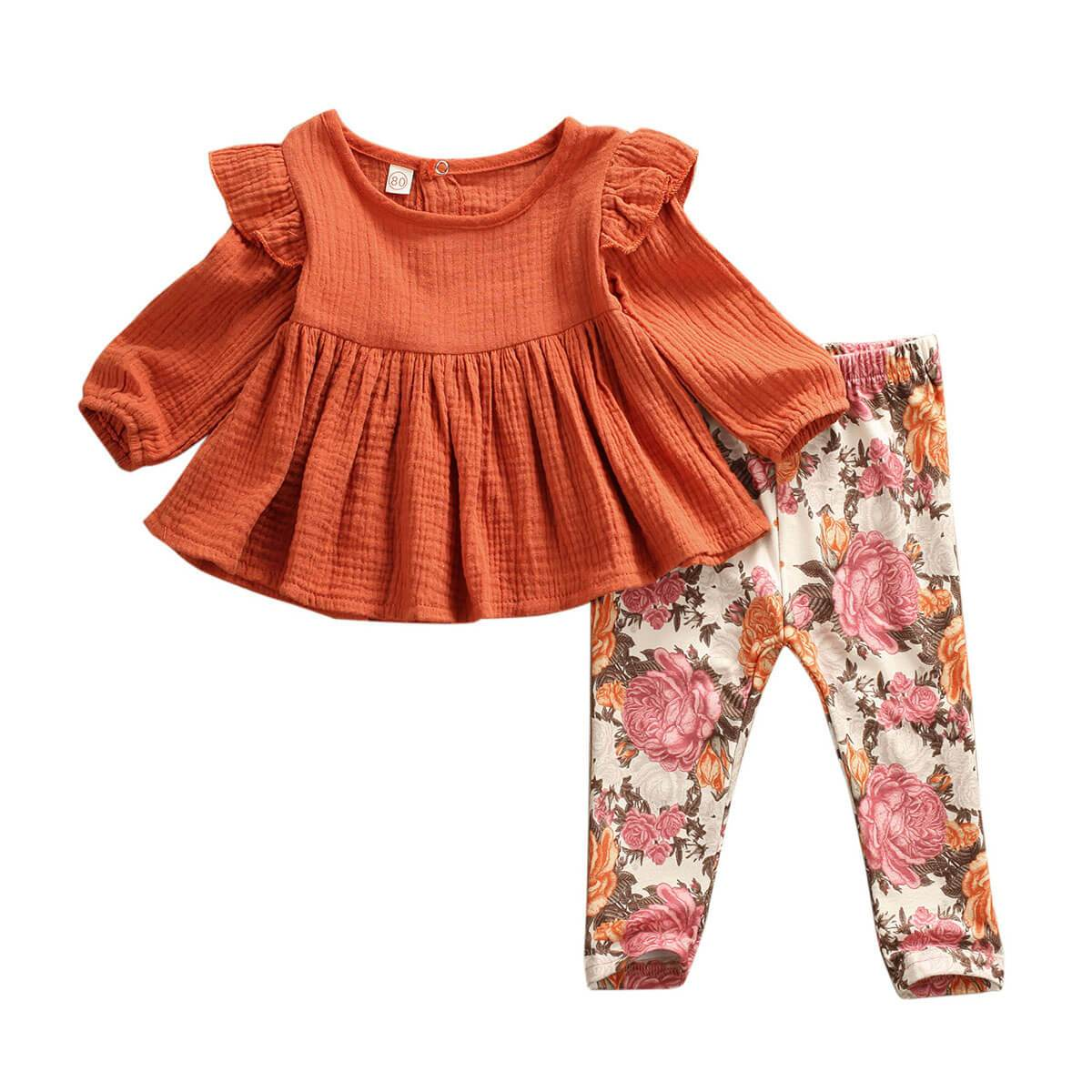 Ruffled Floral Set