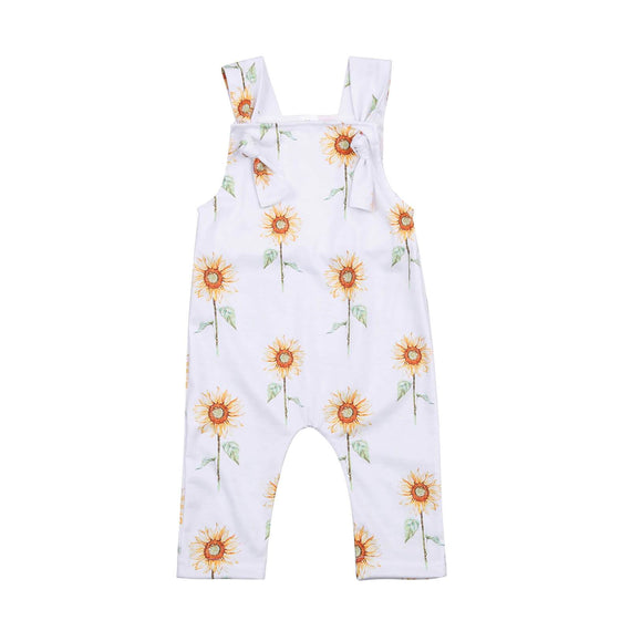 Sleeveless Sunflower Jumpsuit