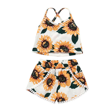 Sunflower Lace Set - The Trendy Toddlers