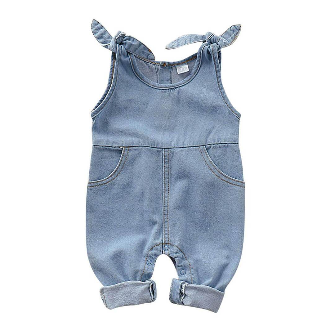 Sleeveless Denim Jumpsuit - The Trendy Toddlers