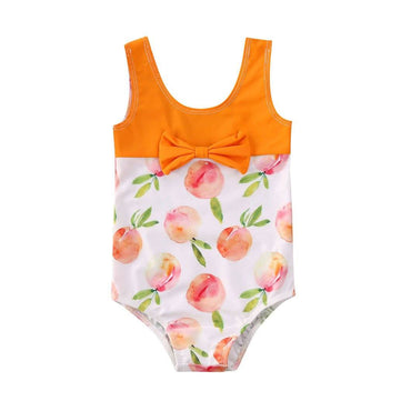 Peach Bow Swimsuit - The Trendy Toddlers