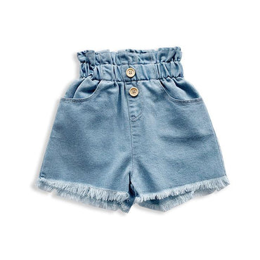 Denim Tassel Shorts