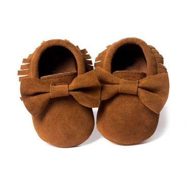 Fringed Bow Moccasins