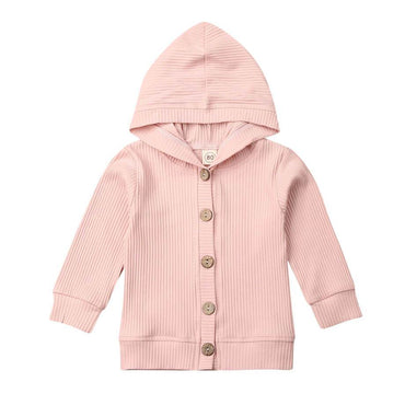 Solid Hooded Cardigan - The Trendy Toddlers